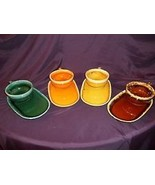 8 HULL POTTERY RAINBOW 2 Each of 4 htf COLORS D... - $99.00