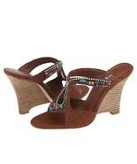 Hype Bennie Womens 7.5 Wedge Silk Shoes Pumps H... - $37.95