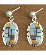 Turquoise Mixed Semi Precious Stone Santa Fe St... - $146.07