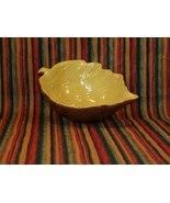 Ceramic Leaf Shaped Bowl - Brown & Yellow - Gre... - $3.49