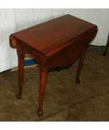 Ethan Allen Cherry Dropleaf Side Table End Table - $399.00