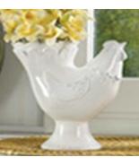Vase Hen shaped White Dolomite. fits any decor - $19.87