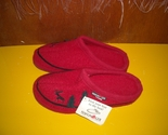 Buy men's slippers - Womens Haflinger Red Boiled Wool Slippers 7