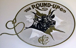 The Round Up Embossed Inner Cigar Label, 1900's - $7.99