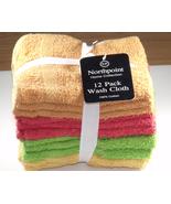 Northpoint Cotton Washcloths Wash Cloths Orange... - $12.99