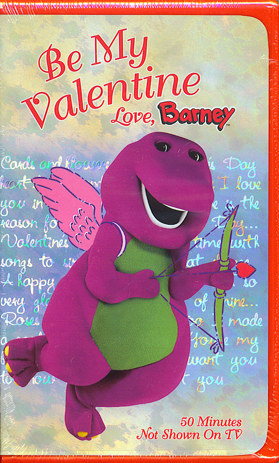Be my valentine love barney sealed vhs 15 songs learn about