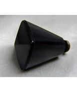Vintage Plastic Bakelite Black Knob Pyramid End - $5.00
