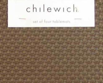 Chilewich Placemats Brown Basketweave  Set of 4