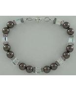 Swarovski Crystal Bracelet Pearl Charcoal Gray ... - $22.99