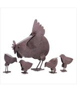 Country garden sculpture Mother Hen and Chicks ... - $19.98