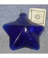 Kitras Hand Blown Cobalt Blue Art Glass Star, O... - $35.00