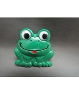 Retro Plastic Green Frog Brooch Pin Google Eyes... - $0.00