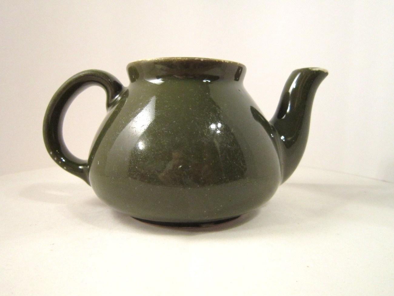 Hall china teapot vase forest green i m a little tea pot