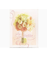 Party Invitations Floral Bouquet Ribbon 20 Pack  - $6.99