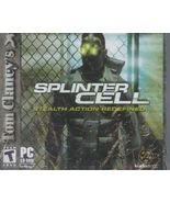 Splinter Cell PC Game Tom Clancy Stealth Action... - $14.93