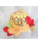 Avon Crystal Rhinestone Halloween Jack O'lanter... - $14.95