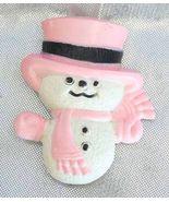 Festive Avon Pink Snowman Christmas Fragrance B... - $12.95