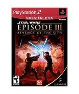 Star Wars Episode III Revenge of Sith PS2 Sony ... - $11.99