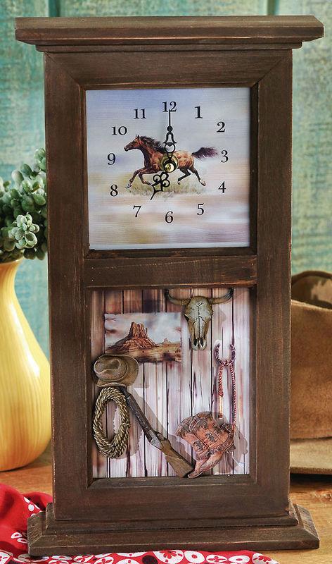 Western Shadow Box Clock