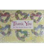 Bridal Shower Thank You Notes Floral Hearts 10 ... - $4.95