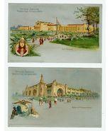 TWO 1904 Official Souvenir Postcards WORLD'S FA... - $12.00