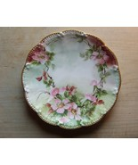 Floral Hand Painted Limoges 8 1/2 Inch Plate Nice - $12.99