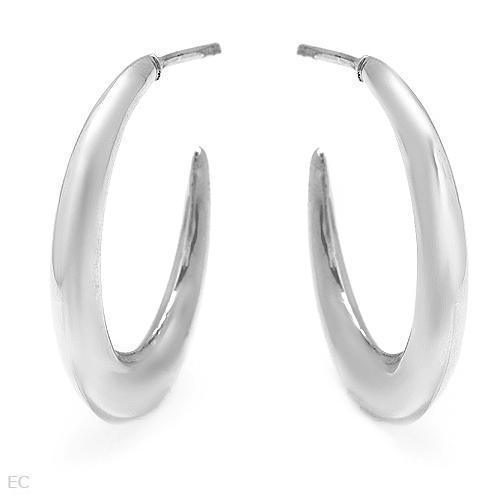High Quality 925 Sterling Silver Hoop Hoops Earrings