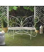 White Metal Bench Garden Chair - $135.00