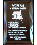 Mirrored Plaque Musical Wood Stand Recipe For A... - $14.95