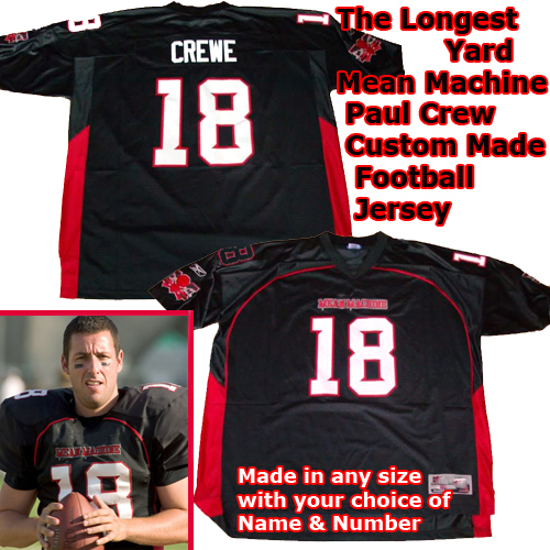Paul Crewe Adam Longest Yard Mean Machine NFL Jersey 4XL