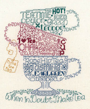 Let's Do Tea cross stitch chart Imaginating - $5.40