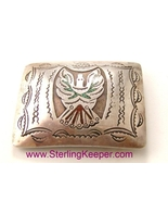Vintage Tommy Singer Inlaid Thunderbird Belt Bu... - $499.99