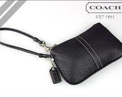 Coach F42389 Small Wristlet in Black On Sale