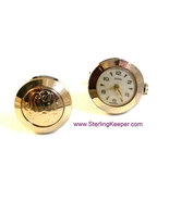 Vintage Swank Gold Tone Swiss Made Watch Cuffli... - $64.99