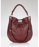 NWT Marc By Marc Jacobs Classic Q Hillier Hobo Bag Bordeaux Red Handbag Purse