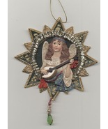 Victorian Angel Playing Lute Christmas Decoration - $7.49