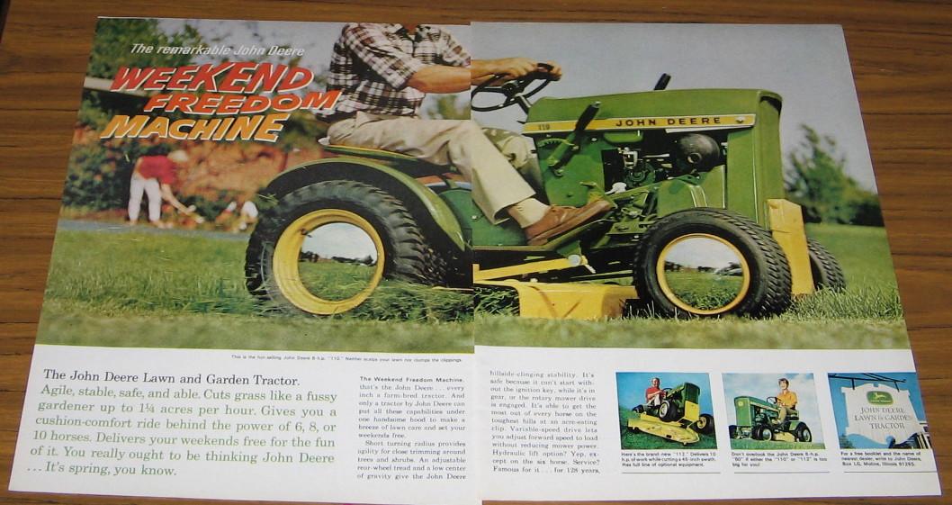 John Deere Tractor Ad : Vintage ad john deere hp model lawn and garden