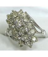 Exquisite 18Kt White Gold Vintage Cocktail Ring... - $35.00