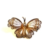 Vintage 800 Silver European Filigree Butterfly ... - $56.99