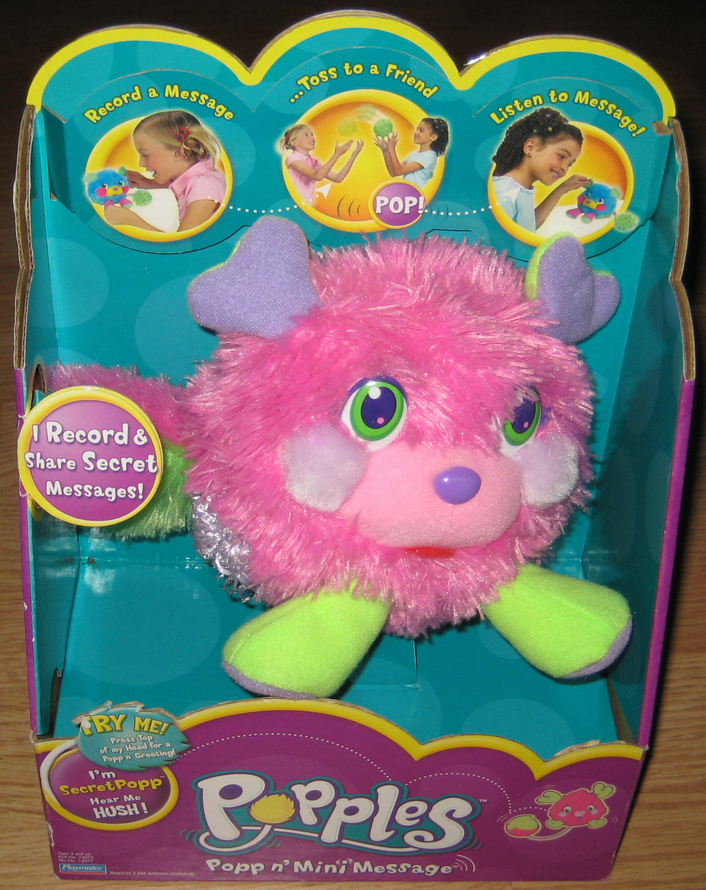 Popples Popp n' Mini Message SecretPopp MIB