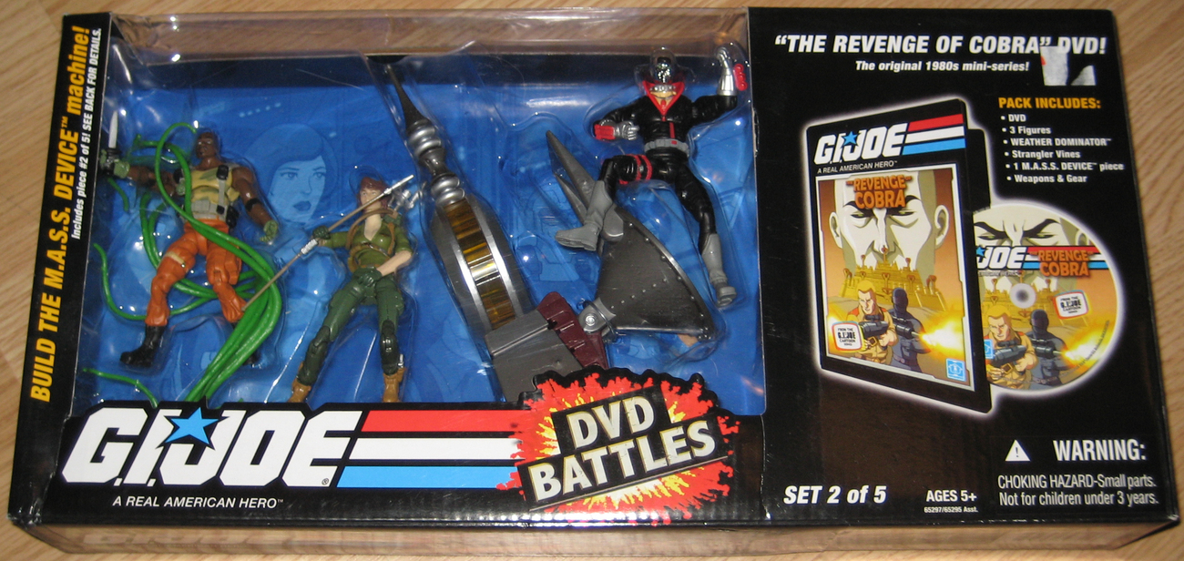 G.I. Joe 2008 Revenge of Cobra DVD Battles MIB