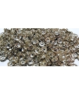 Lot of 50 Silvertone Clear Rhinestone Spacer Be... - $3.50