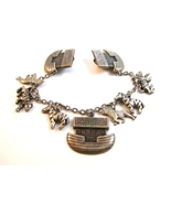 Noah's Ark Silver & Brass Tone Sweater Guard wi... - $14.99