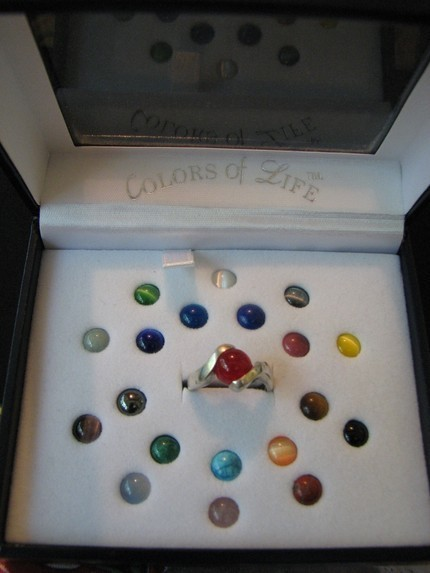 sterling silver colors of life interchangeable stone ring