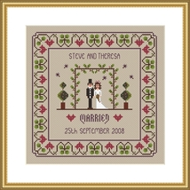 The Wedding marriage cross stitch chart Little ... - $10.80
