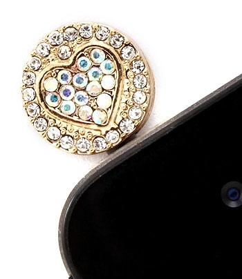 PAVE HEART HEADPHONE CAP - Aurore Boreale