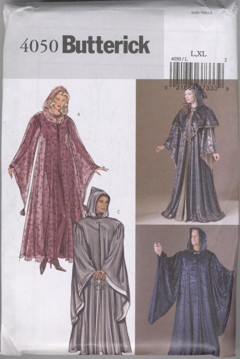 Mens Meval Cloaks - Renaissance Hooded Cloak Pattern