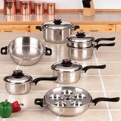 17 piece Surgical Stainless Steel Steam Control Cookware Set