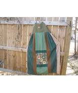 Handmade Hippie Patchwork Mushroom Dress Tall p... - $125.00