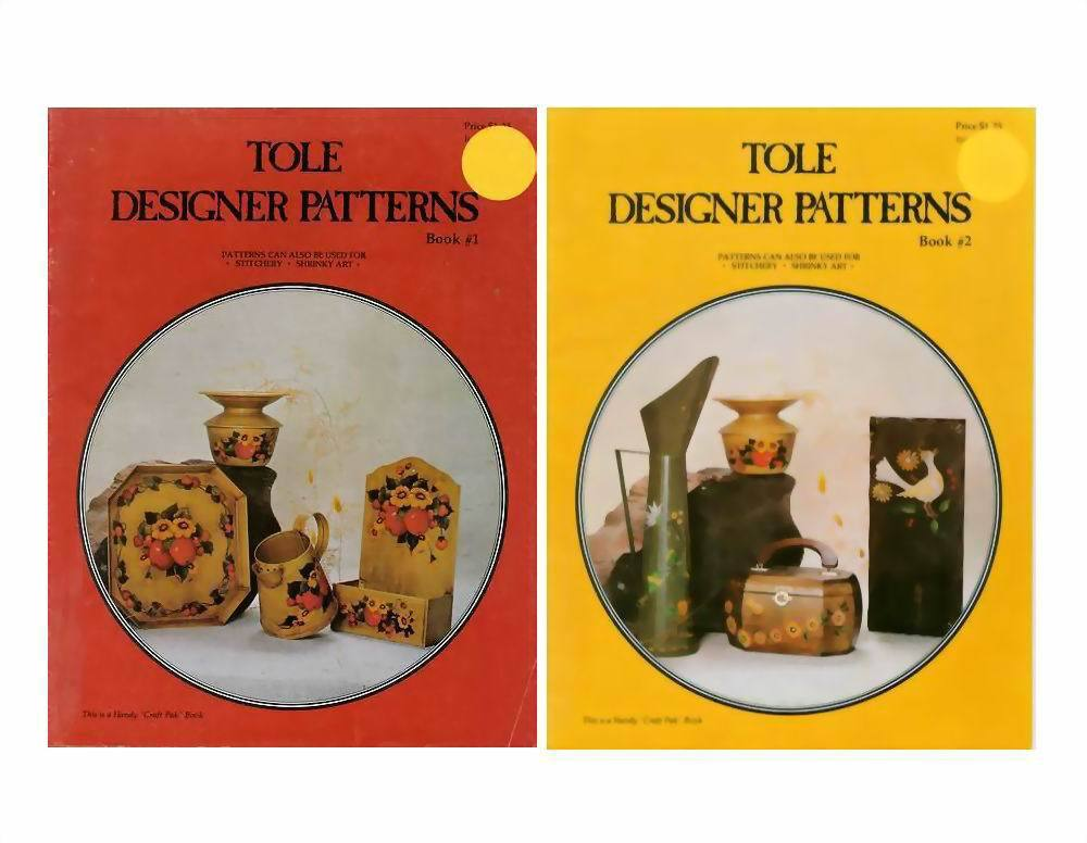 Lot of 2 Tole or Stitchery Designer Patterns Booklets 1976